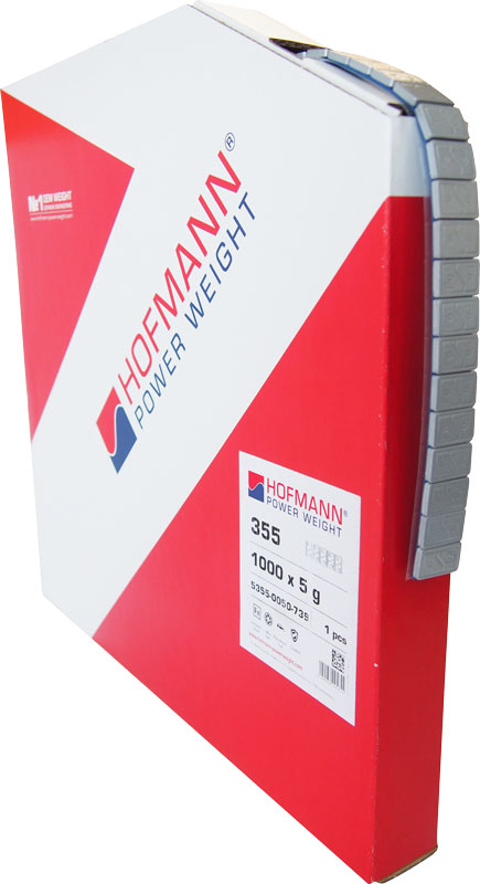 HOFMANN – sivé železné samolepiace závažie v kotúči 5kg