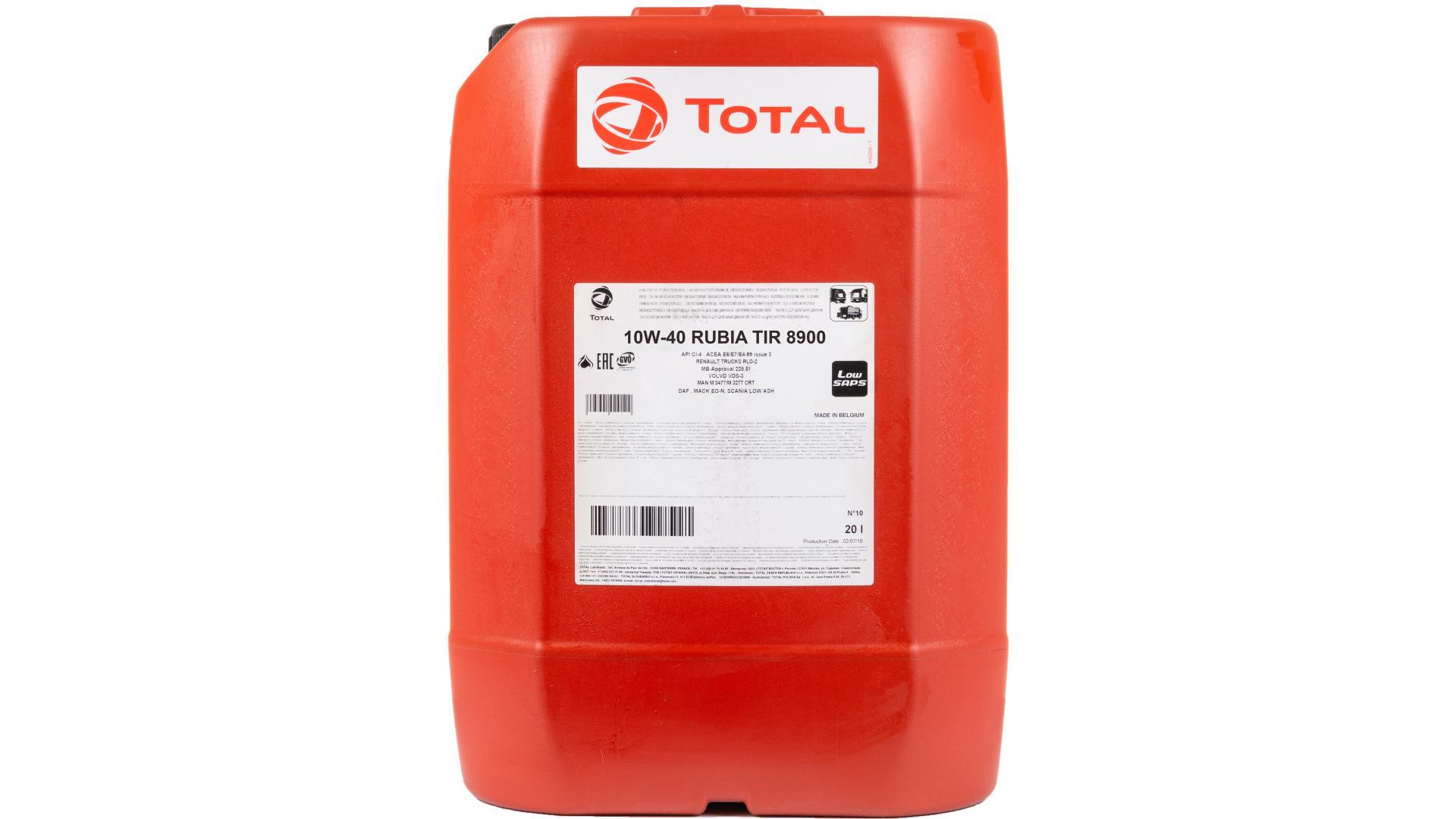 Total 10w-40 Rubia Tir 8900 20L (160777)