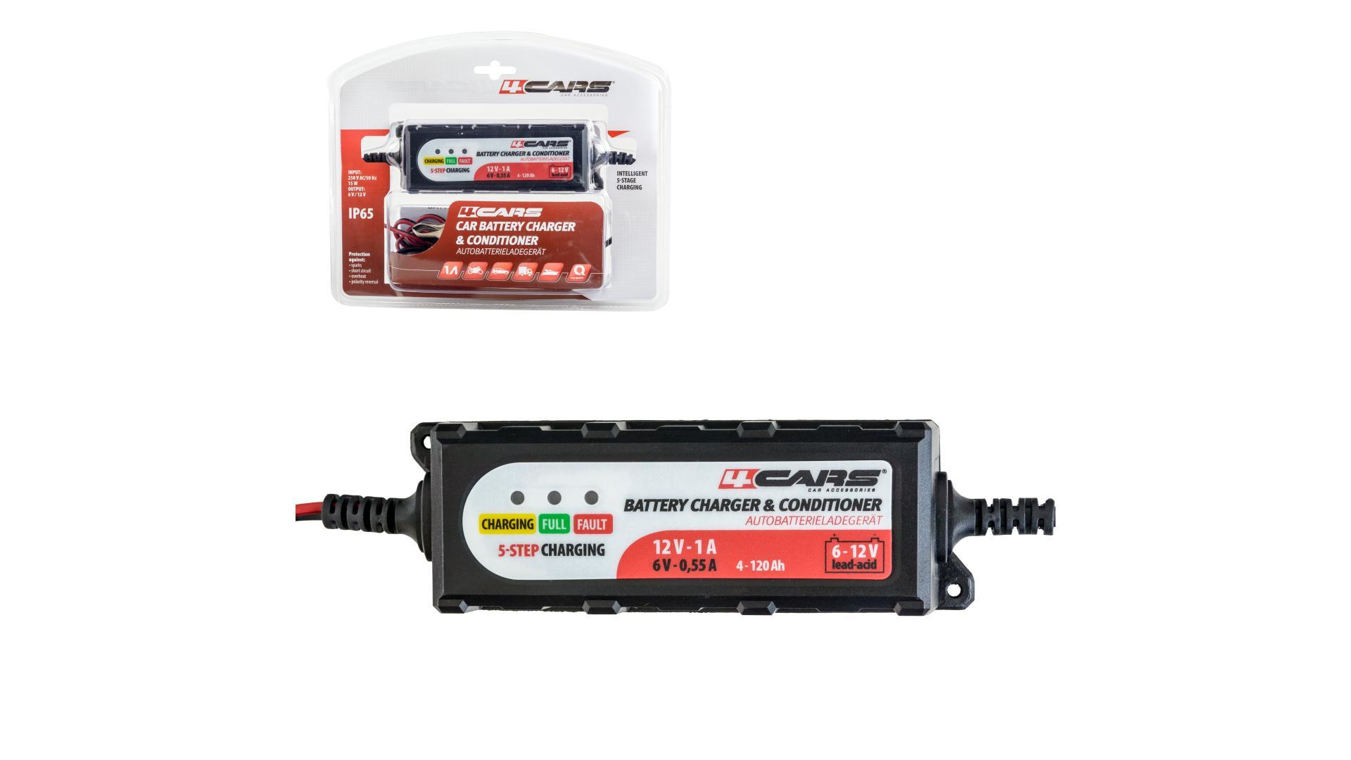 4CARS Inteligentná 5-stupňová nabíjačka-udržiavačka Z10 6/12 V; 2,0 A (gelové a tekuté autobatérie)