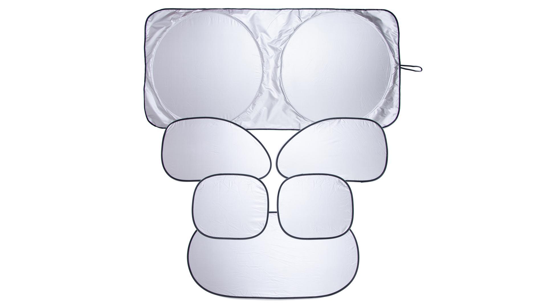 4CARS Sada tepelných clon ELASTIC veľká - 1x čelná 150x70cm,1x zadná,4x bočná