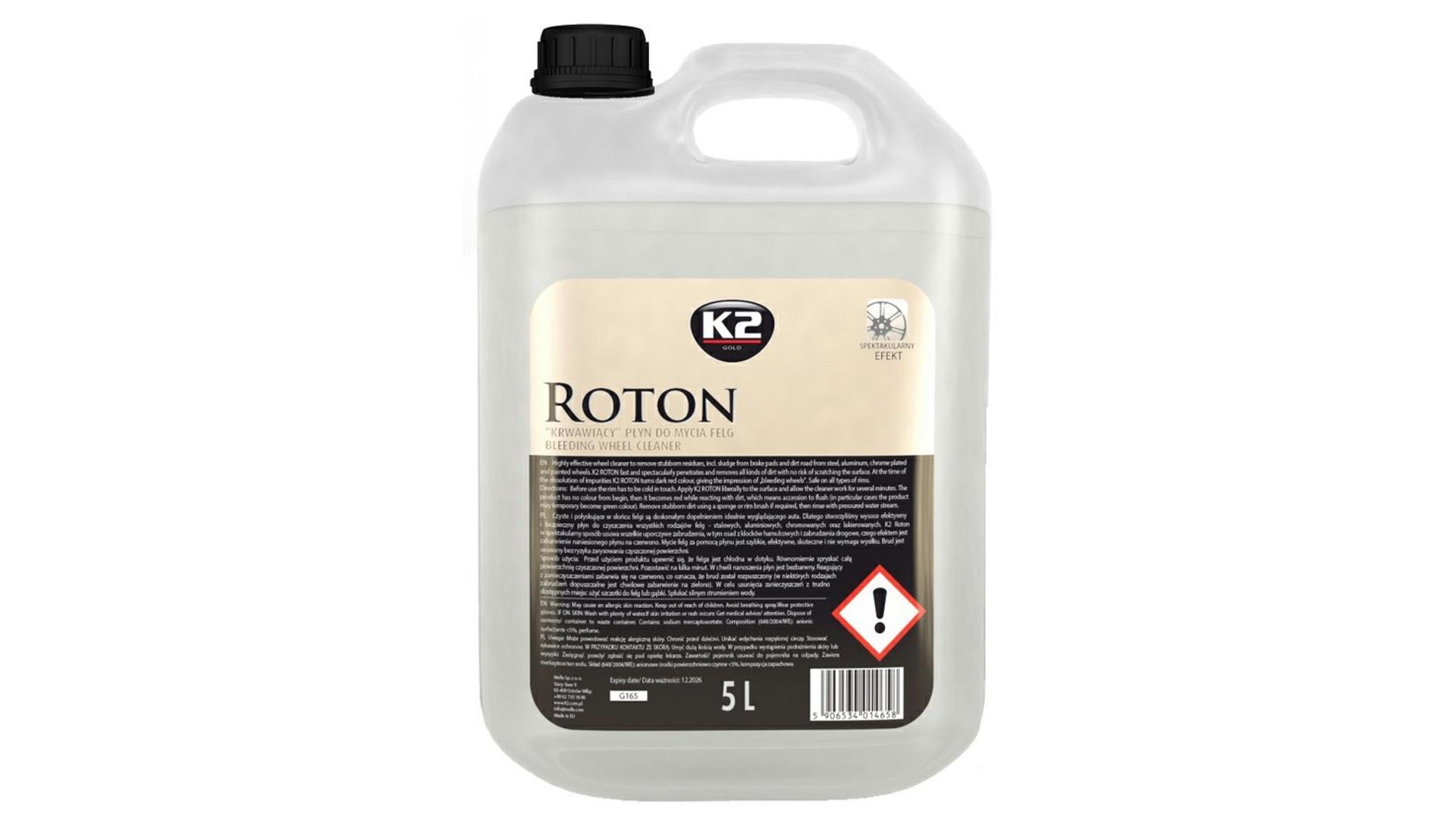 K2 ROTON 5 l - profesionálny čistič diskov kolies