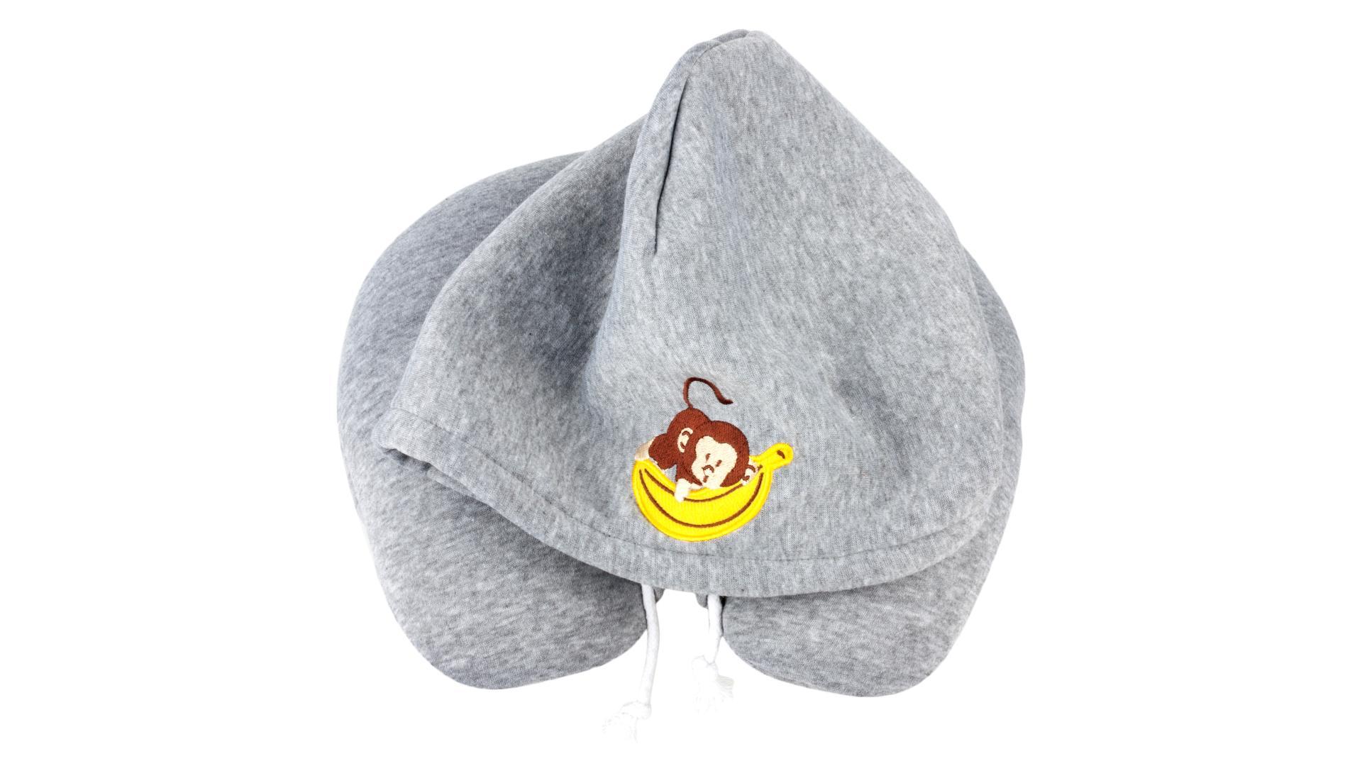 Walser vankúšový golier s čiapkou Monkey sivý (od 5 rokov)
