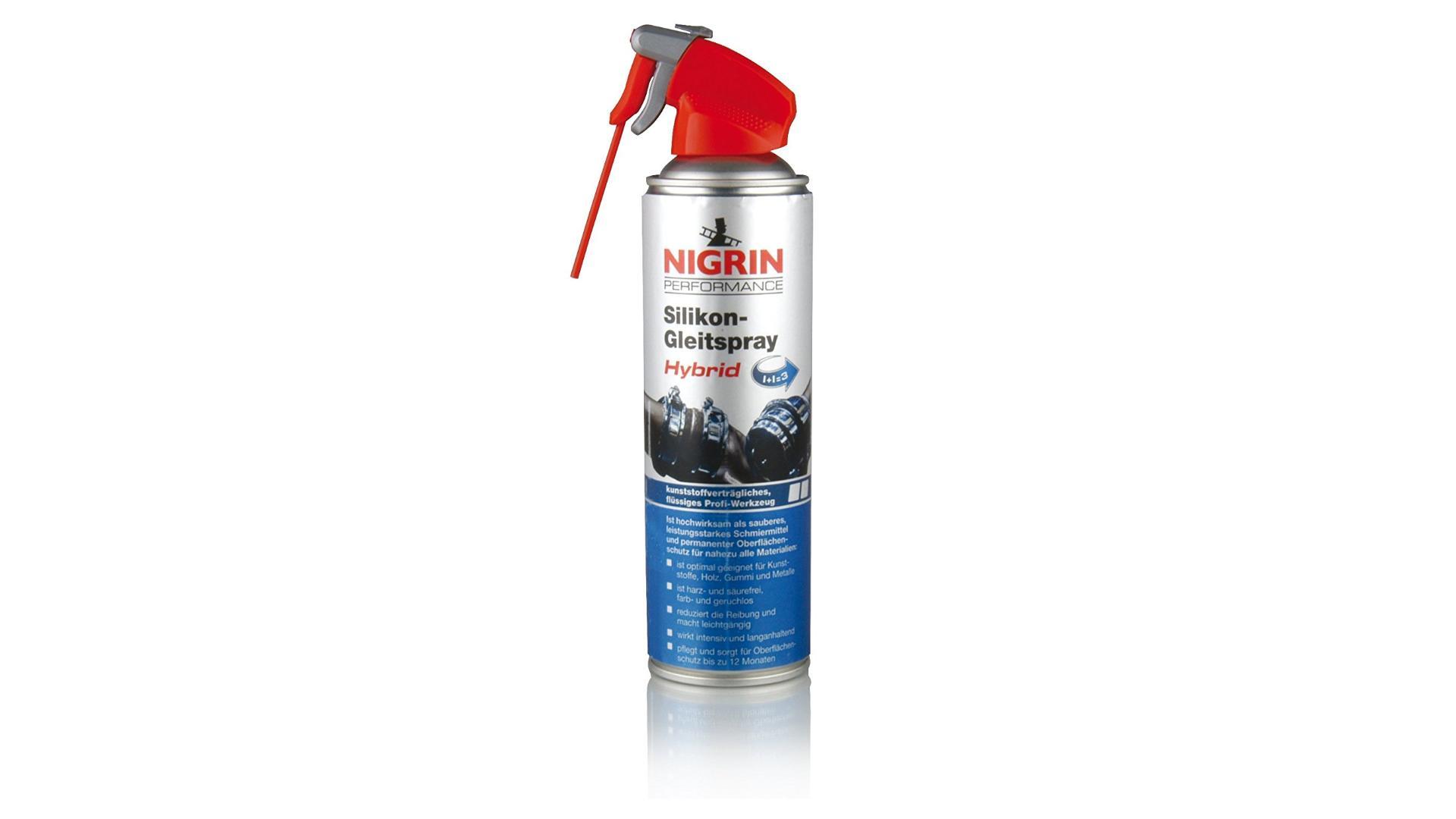 NIGRIN Silikónový olej v spreji HyBrid 500ml
