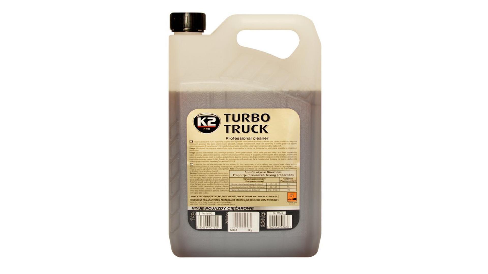 K2 TURBO TRUCK 5 kg - profesionálny čistič na kamióny