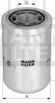 Filter, pracovná hydraulika WH1257/1 | MANN-FILTER