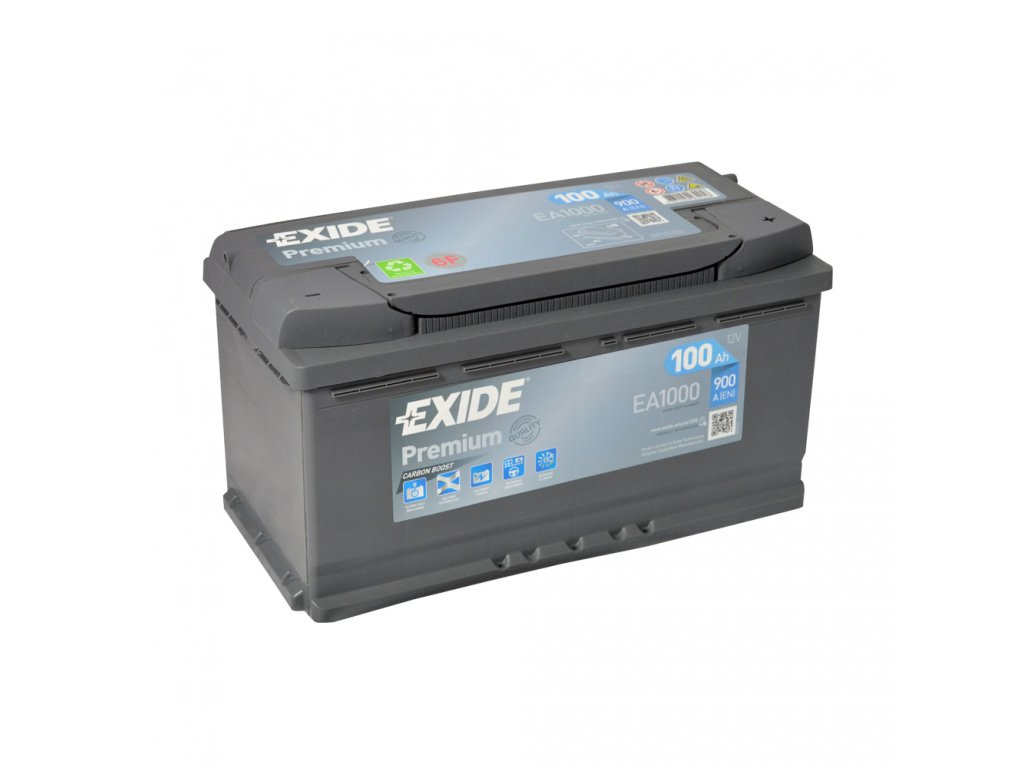 EXIDE PREMIUM CARBON BOOST EA1000 12V/100Ah