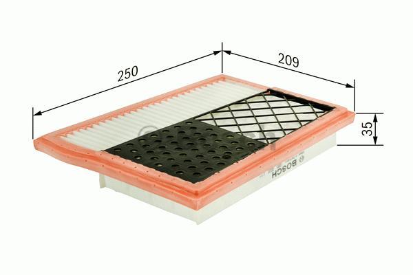 Vzduchový filter Bosch F 026 400 388