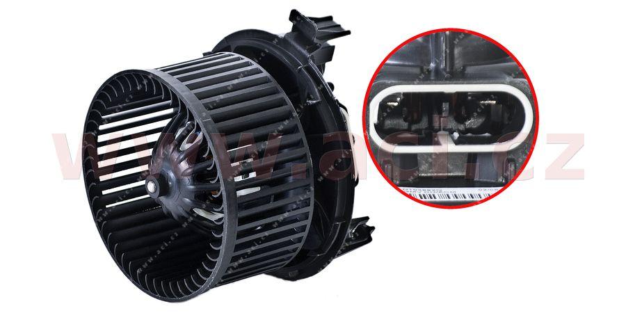 vnitřní ventilátor topení a klimatizace (pouze pro manuální AC) VALEO