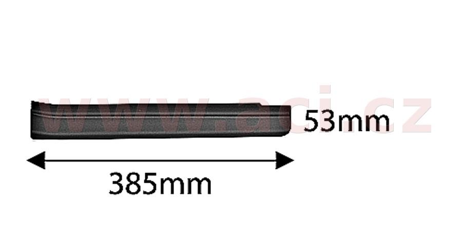 zadní plastová lišta prahu černá (pouze pro vozy s pohonem 4x4) ORIGINÁL, L