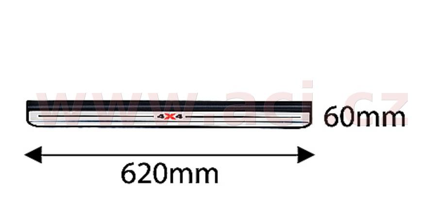 přední plastová lišta prahu černá (pouze pro vozy s pohonem 4x4) ORIGINÁL, L