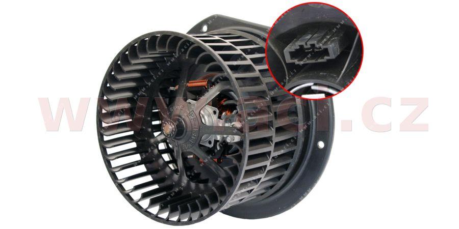 vnitřní ventilátor topení a klimatizace - přídavný v prostoru pro cestující (zadní)