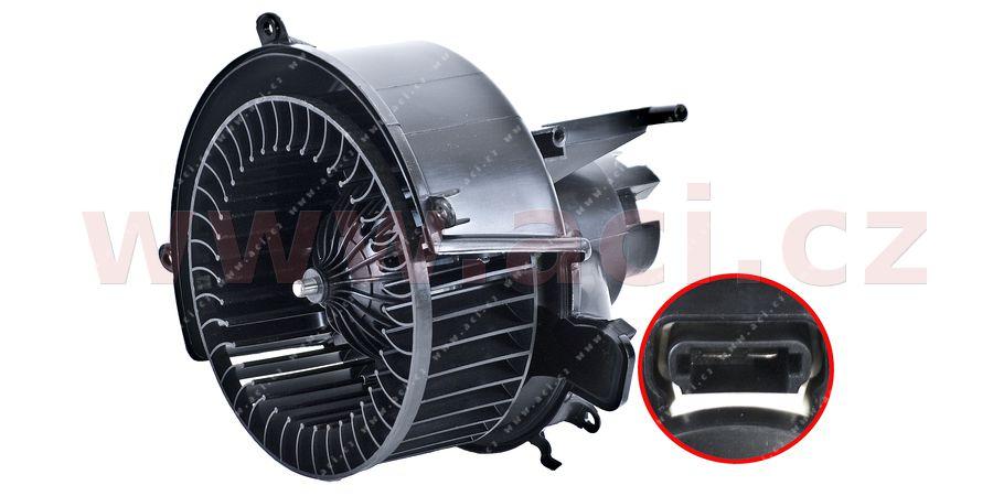 vnitřní ventilátor topení a klimatizace (pro vozy s automatickou AC, bez regulátoru)