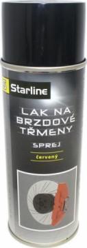 Starline lak na brzdové třmeny červený 400ml