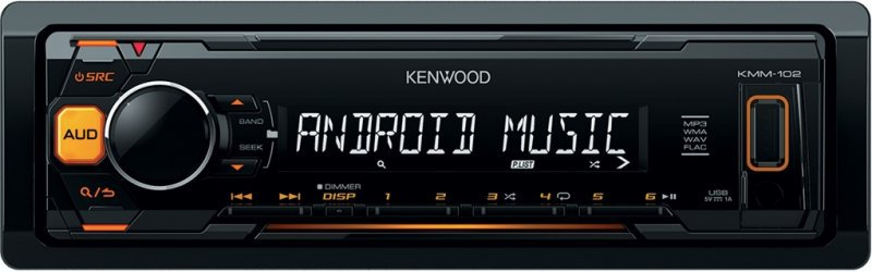 Autorádio Kenwood KMM-102AY bez CD s USB 4 x 50W