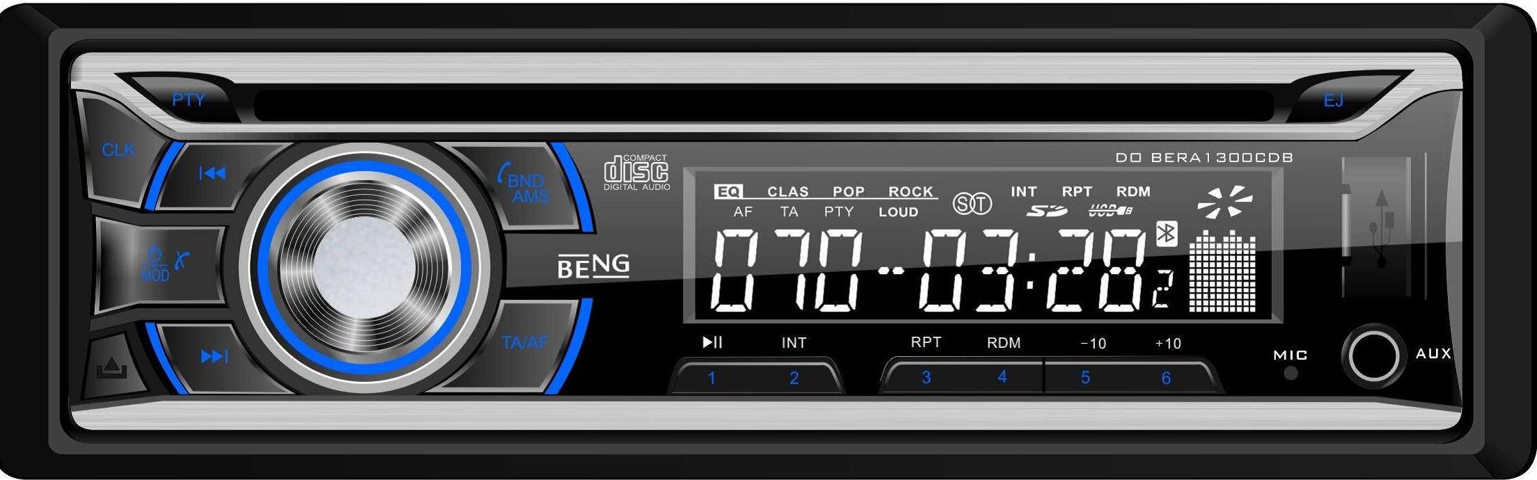 Autorádio BENG s CD,MP3,USB,SD/MMC 4x45W