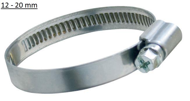 Spona hadicová šroubovací 12 - 20mm