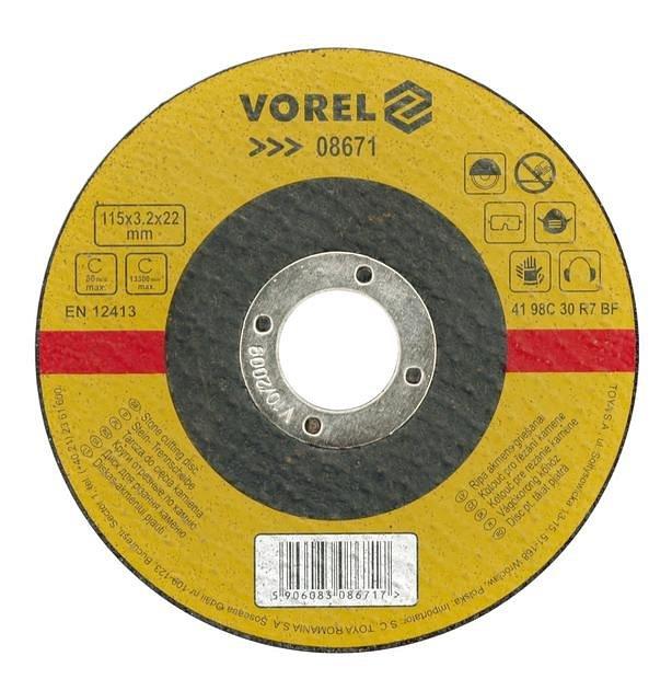 Kotouč na kámen řezací 230 x 3,2 x 22 mm Vorel
