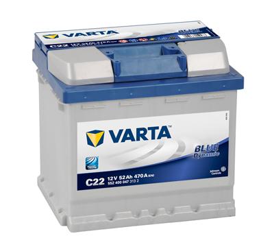 Autobaterie Varta Blue Dynamic Pravá 52Ah/470A