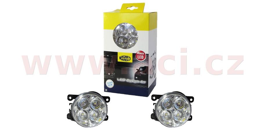 přídavná světla LED pro denní svícení 12 - 24V průměr 90mm