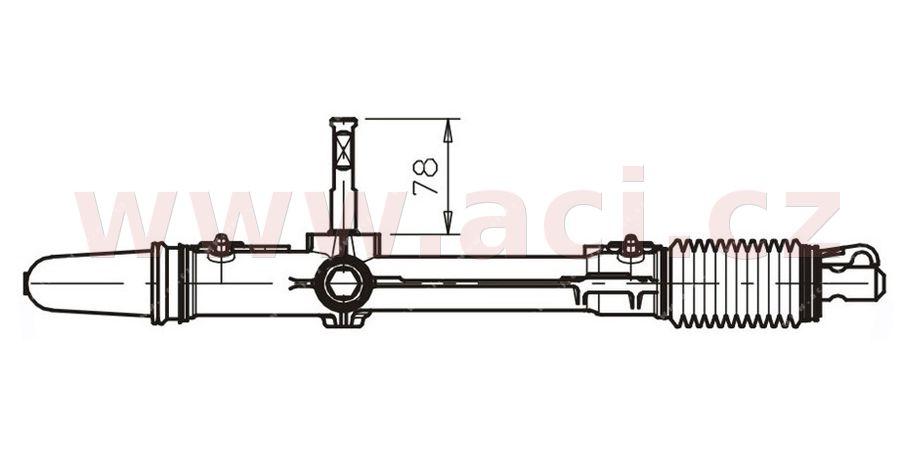 řízení komplet mechanické 1.4i od č karoserie 7141 (pneumatiky 165/70/R13, 165/65/R14) AVORD - Francie