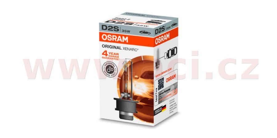 D2S - výbojka XENON 12/24V 35W pro čočky OSRAM XENARC