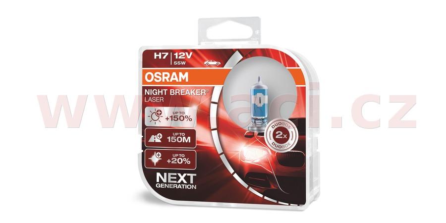 žárovka H7 12V 55W (patice PX26d) OSRAM NIGHT BREAKER® LASER