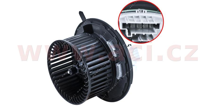 vnitřní ventilátor topení a klimatizace bez regulátoru