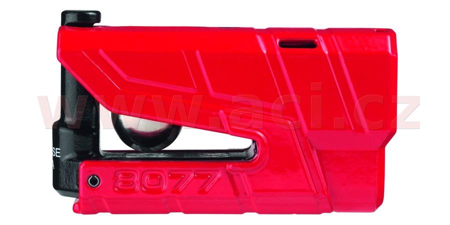 zámek na kotoučovou brzdu Granit Detecto XPlus (průměr třmenu 13 mm), ABUS (červený)