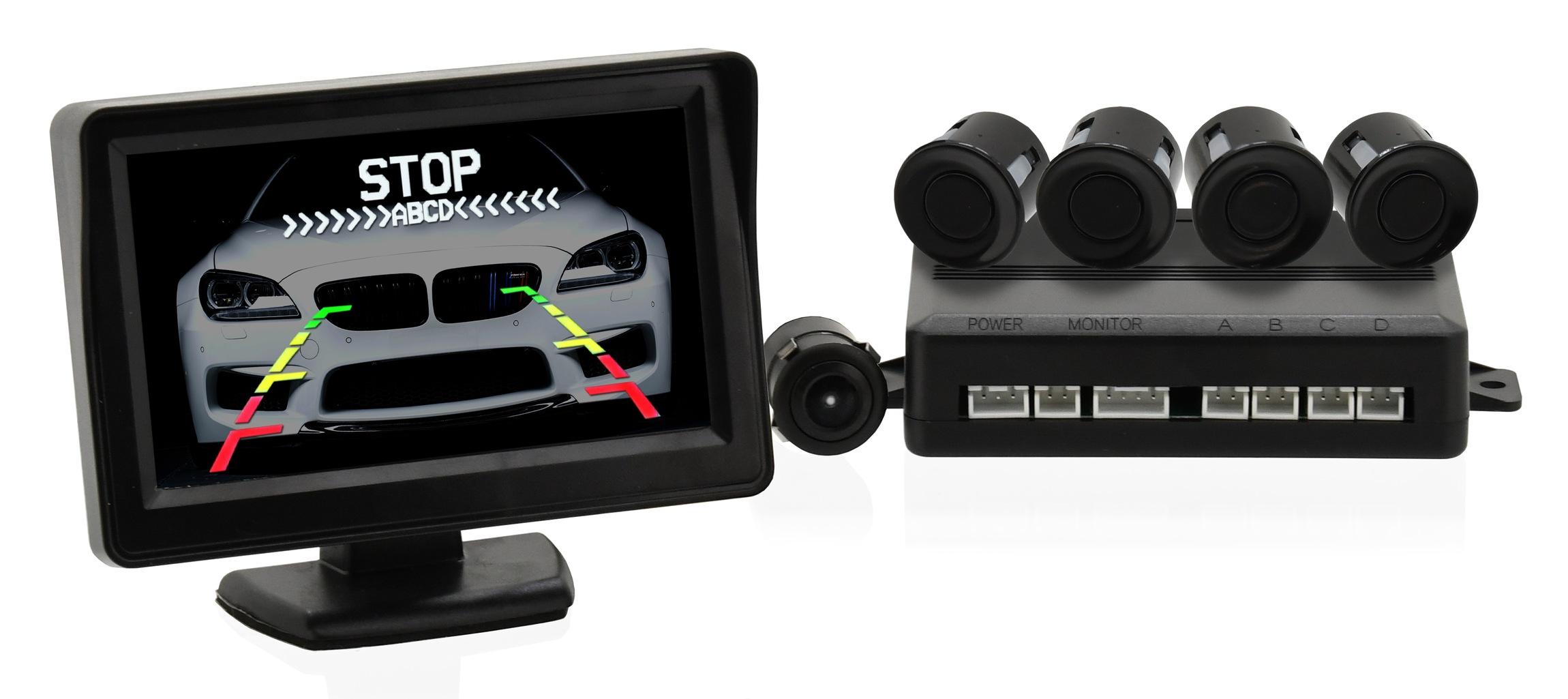 Parkovací asistent 4 senzory + zadní kamera