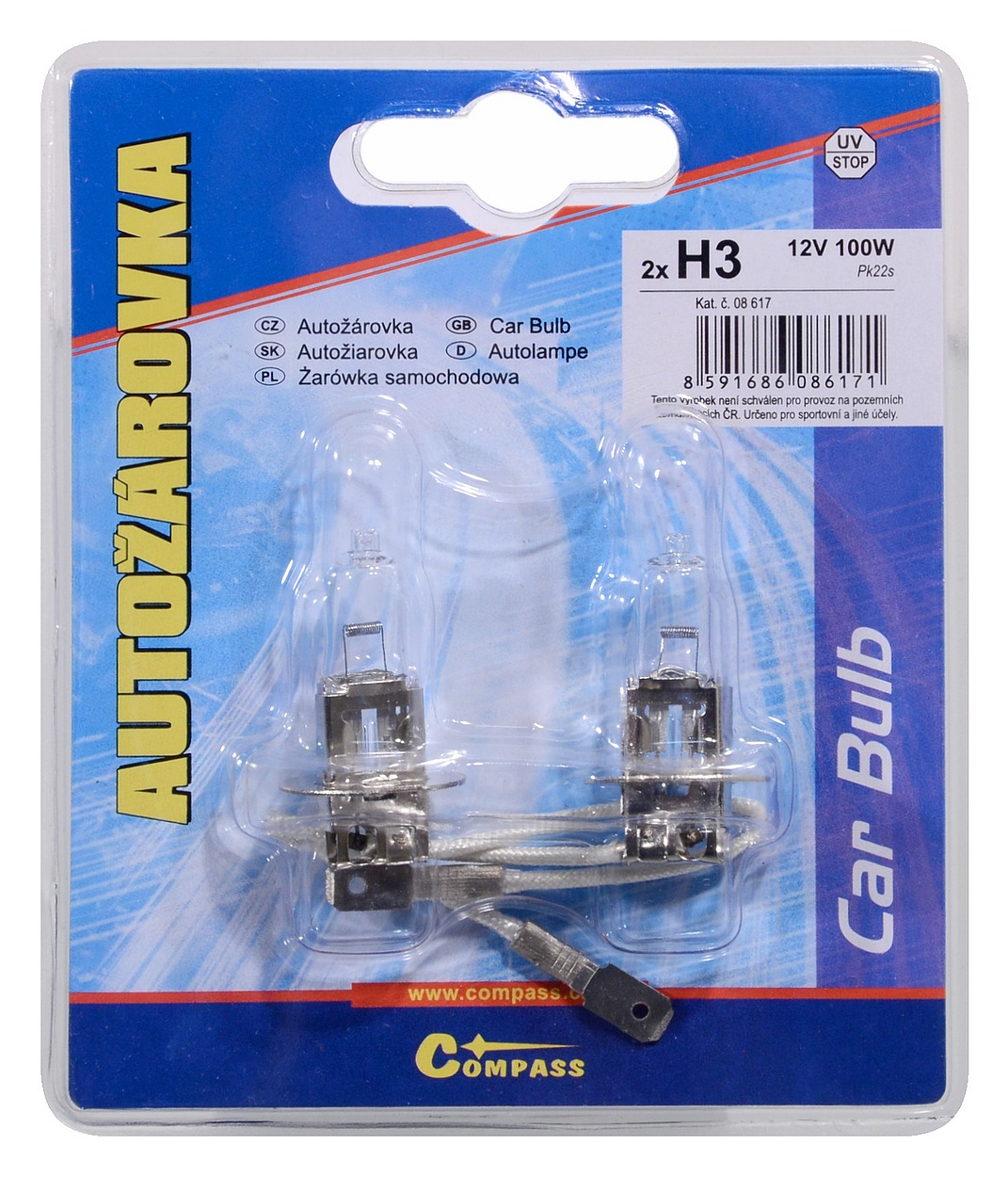 Žárovka 12V H3 100W Pk22s blister 2ks