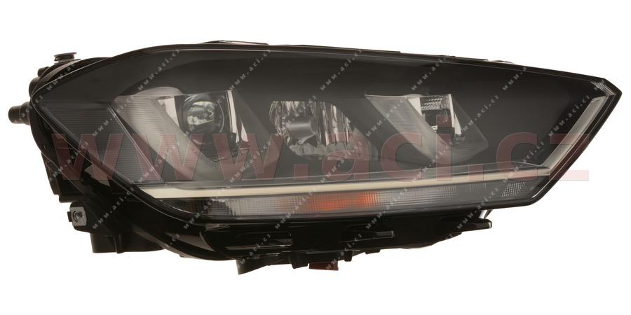 přední světlo BI-XENON+H7+LED (automatická dálková světla) VALEO (prvovýroba) P