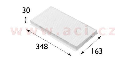 kabinový filtr (prachový, pylový a pachový-uhlíkový) VALEO