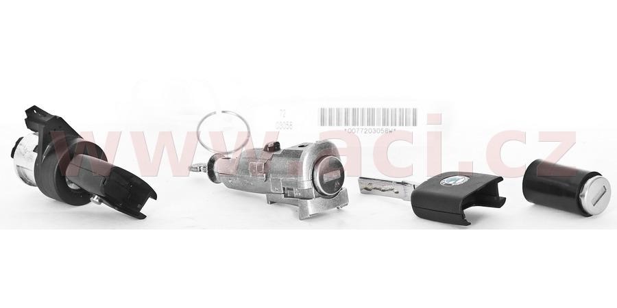 sada zámků (vložka spínací skřínky, 1x dveře, uzávěr palivové nádrže, sklopný klíč pro dálkové ovládání) ORIGINÁL ACI