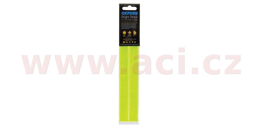 reflexní pásky Bright Strips, OXFORD - Anglie (žlutá fluo, 21 x 217 mm, pár)